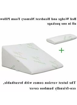 InteVision Foam Bed Wedge Pillow   Headrest Pillow in ONE