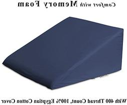InteVision Foam Wedge Bed Pillow  with Egyptian Cotton Cover