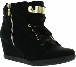 Forever Link Womens Peggy-53 Wedge Fashion Sneakers