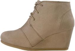 galaxy womens wedge boots taupe 10