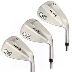 Ram Golf Pro Spin Stainless Wedge Set - 52, 56, 60 Wedges -