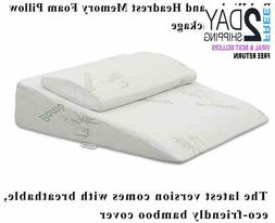InteVision Extra Large Foam Bed Wedge Pillow   Headrest Pil