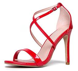 j adams strappy high heel sandal red