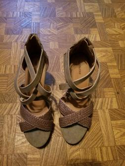 Maurices Janae tall braided wedge sandal size 11 NEW