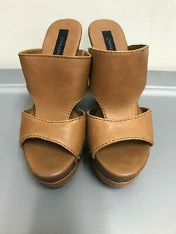 Calvin Klein Jeans Brown Leather Wedges 8.5