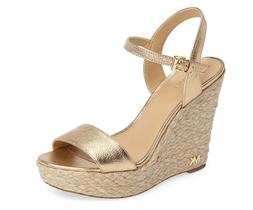 Michael Kors Jill Leather Wedge Pale Gold Women's sizes 5-11