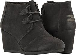 TOMS Forged Iron Grey Suede 10012957 Kala Booties Women's Si