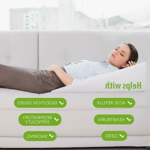 12 bed wedge support pillow for sleeping