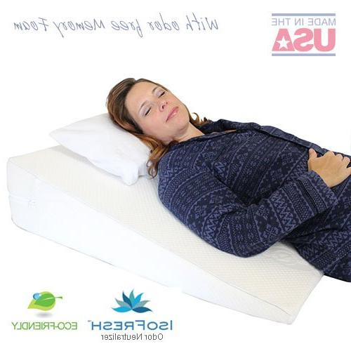 Acid Reflux Pillow - USA Memory Foam Overlay Removable Medslant. size for GERD and issues.