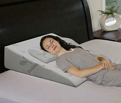 """InteVision Extra Large Foam Bed Wedge Pillow  - 2"""" Memory Fo"""