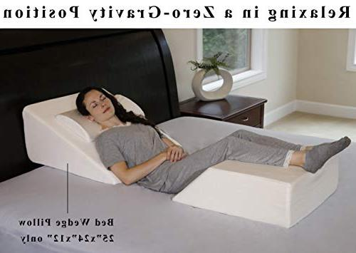 InteVision Foam Wedge Pillow Foam Firm and a Cover Helps Relief from Acid Snoring,