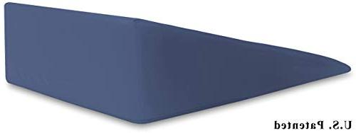 InteVision Extra Bed Wedge 400 Egyptian Cotton Cover Helps Reflux, Post Memory Foam Firm Foam