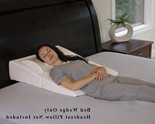 InteVision Pillow Dual Memory Foam Removal and Carrying Case Relief Acid Post Snoring, Back