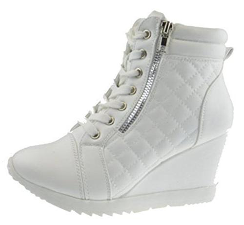 adriana 12 lace quilted wedge