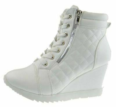 Lace High Top White 9