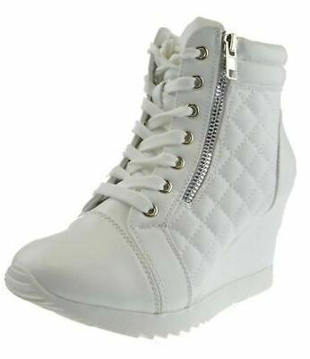 adriana 12 womens lace up quilted high