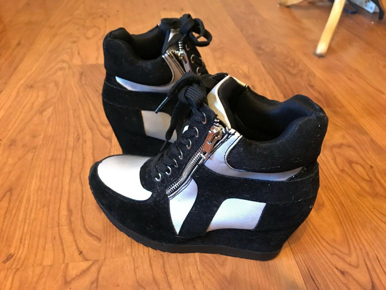 Forever Womens High Top Sneakers Shoes