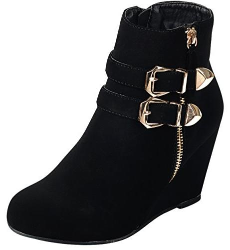 Forever Strappy Wrapped Wedge US,Black