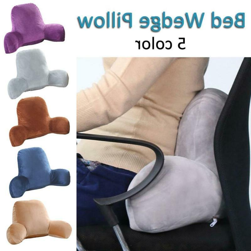 Bed Backrest Body Zipper Wedge Pillow Sofa Positioners Pillo