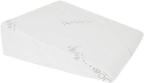 Relax Home Life Inch Wedge for Acid Inch Foam with Bamboo Cover, W x H, White