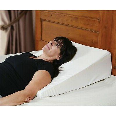 bed wedge memory foam pillow washable removable