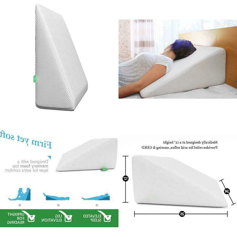 bed wedge pillow 1 5 inch memory