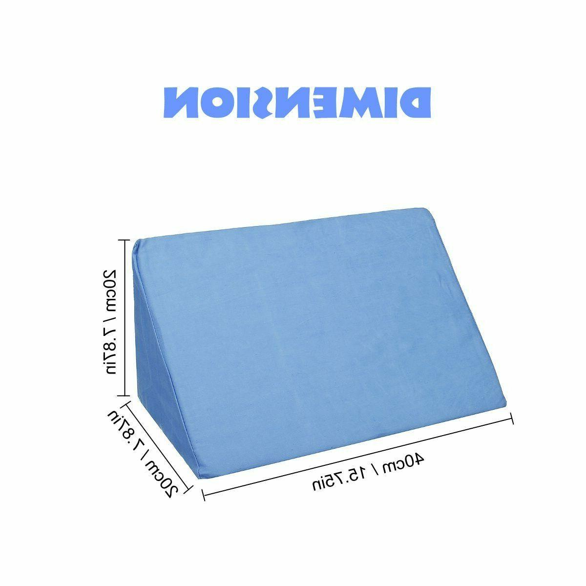 Bed Wedge Pillow Foam Back Elevate Body Positioner support Pain Rest