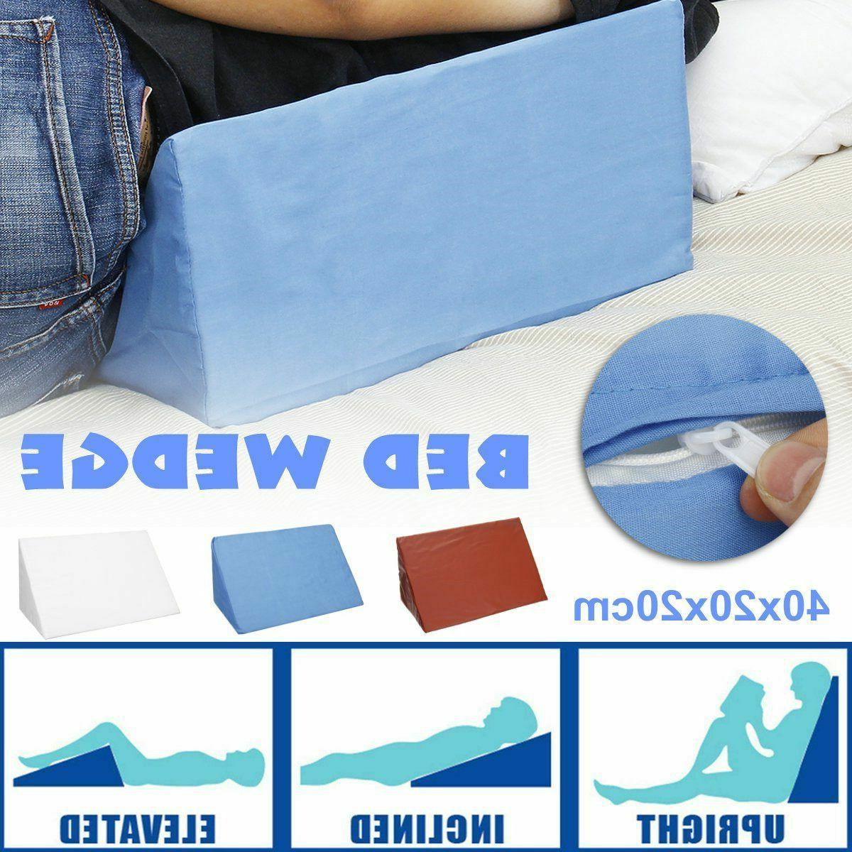 bed wedge pillow foam back neck elevate