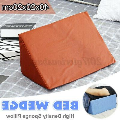 Bed Wedge Pillow Elevate Back Leg Pain Rest Positioner