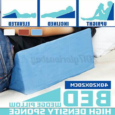 bed wedge pillow foam elevate support back