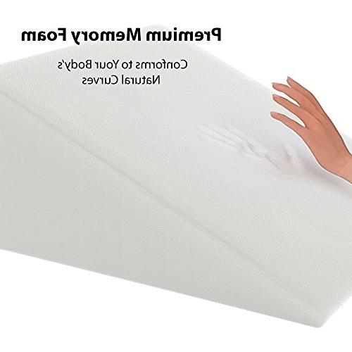 Bed Sleeping and -Firm Foam a Removable Cover- Surgery, Anti Snoring, Reading, Back Pregnancy Bolster