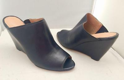 black leather women s shoes wedge heel
