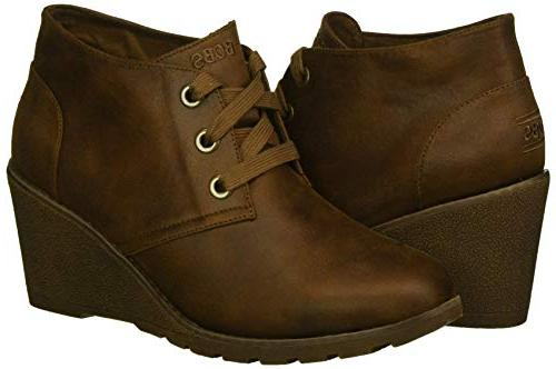 Skechers Tumble Weed-Goin West. Microfiber Wedge Bootie w Ankle