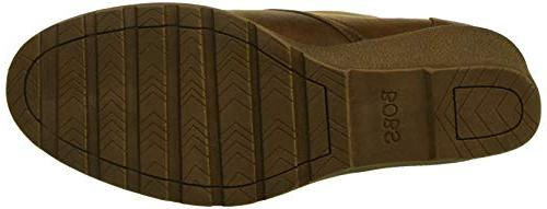 Skechers BOBS Weed-Goin Microfiber Bootie w Ankle Boot, Brown, 7.5 M