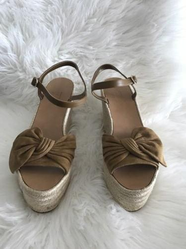 brand new garavani women tropical tan suede
