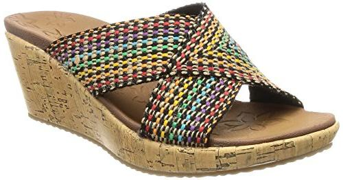 Skechers Cali Women's Beverlee Delighted Wedge Sandal, Multi