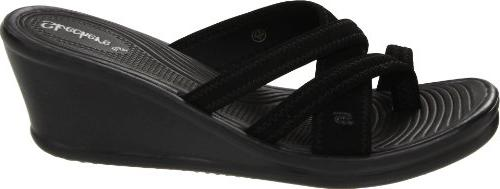 Skechers People Wedge Sandal, Black, 10 M US