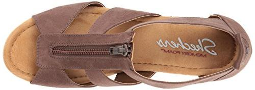 Skechers Cali Monarchs Wedge Sandal,chocolate,8