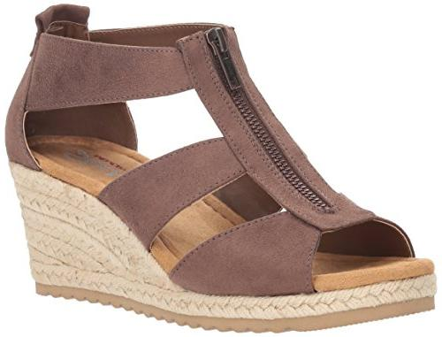 cali women s monarchs wedge sandal chocolate