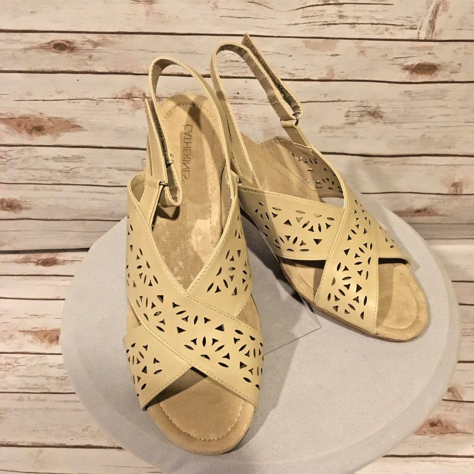 catherines good soles wedge sandals womens 12w