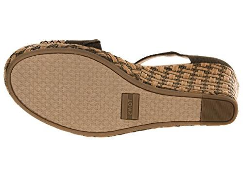 TOMS Women's Clarissa Olive Textile/Wrapped 8.5 B