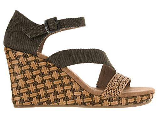 TOMS Clarissa Olive Textile/Wrapped B