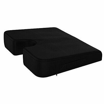 Coccyx Memory Foam Support Wedge Seat Cushion Orthopedic Wel