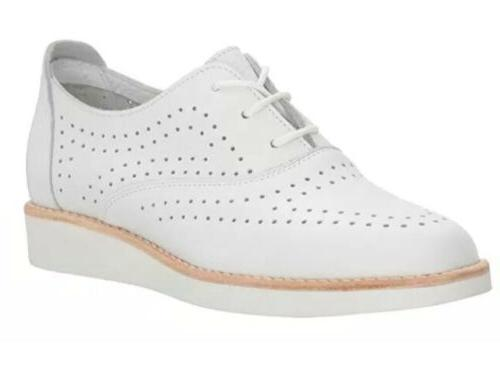 dansao womens low heel wedge oxfords white