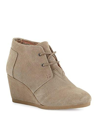 desert wedge taupe suede boot