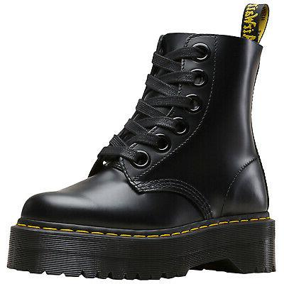 drmartens molly leather casual ankle platform womens boots