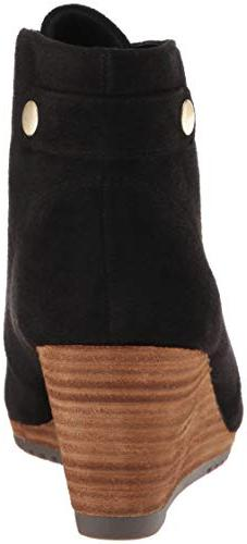 Dr. Scholl's Women's Conquer Ankle Boot, Black Microfiber, US