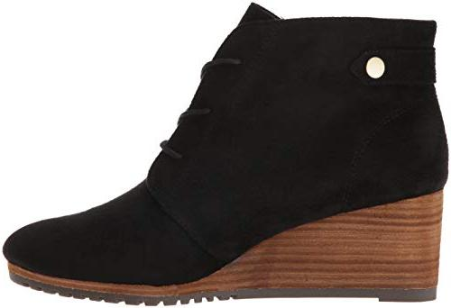 Dr. Scholl's Conquer Ankle Boot, Black Microfiber,