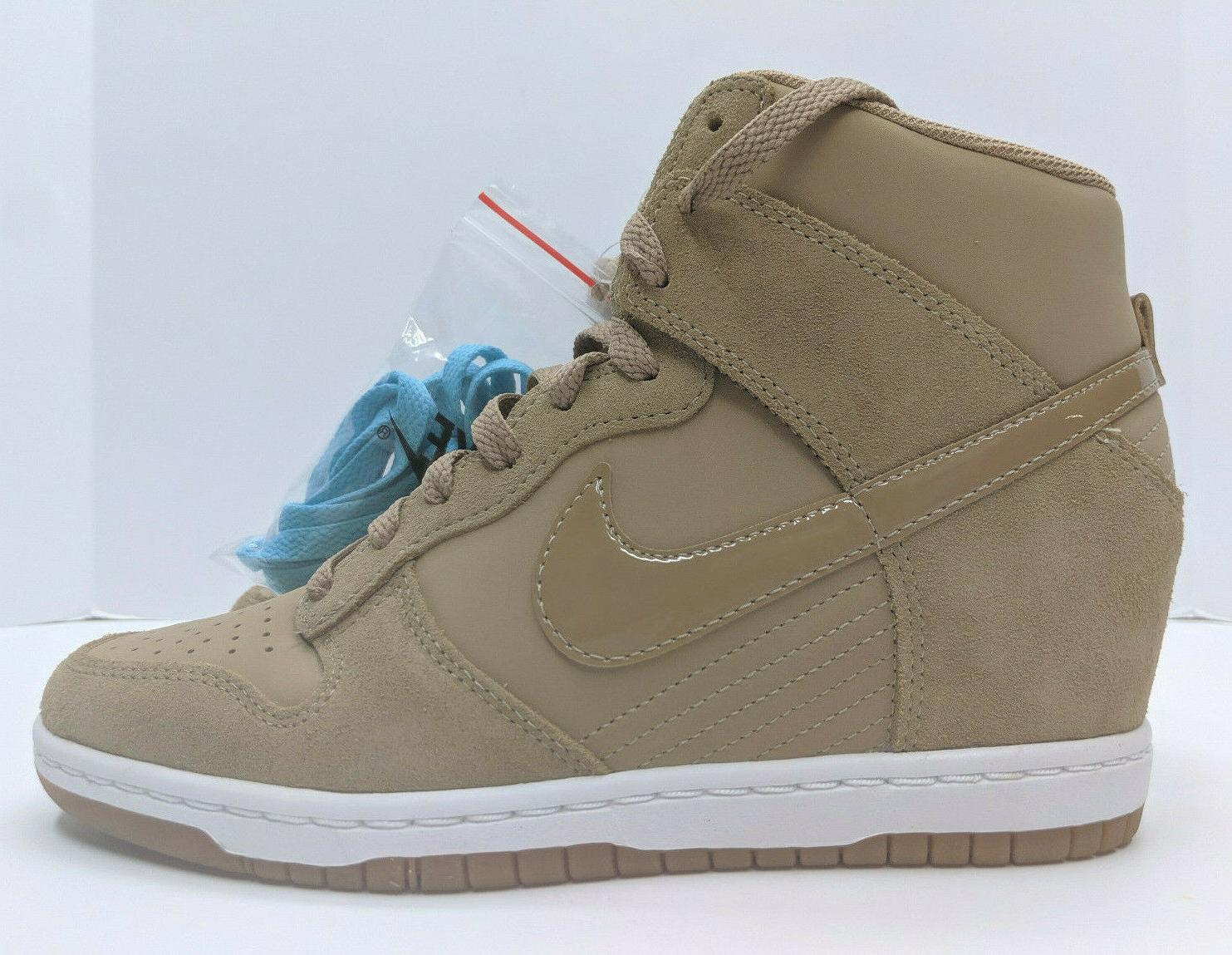 Nike Dunk Sky Hi Essential Sneaker Tan Wedge