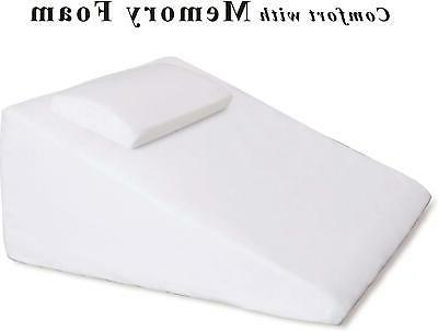 Intevision Large Wedge Pillow Cotton Cover Helps